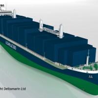 A.Delta2300 container feeder (copyright Deltamarin)