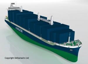 2,300 TEU container feeder concept by Deltamarin