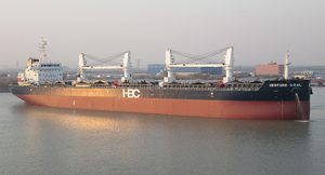 HBC Venture Goal bulk carrier, design based on Deltamarin's B.Delta43 (copyright HBC)