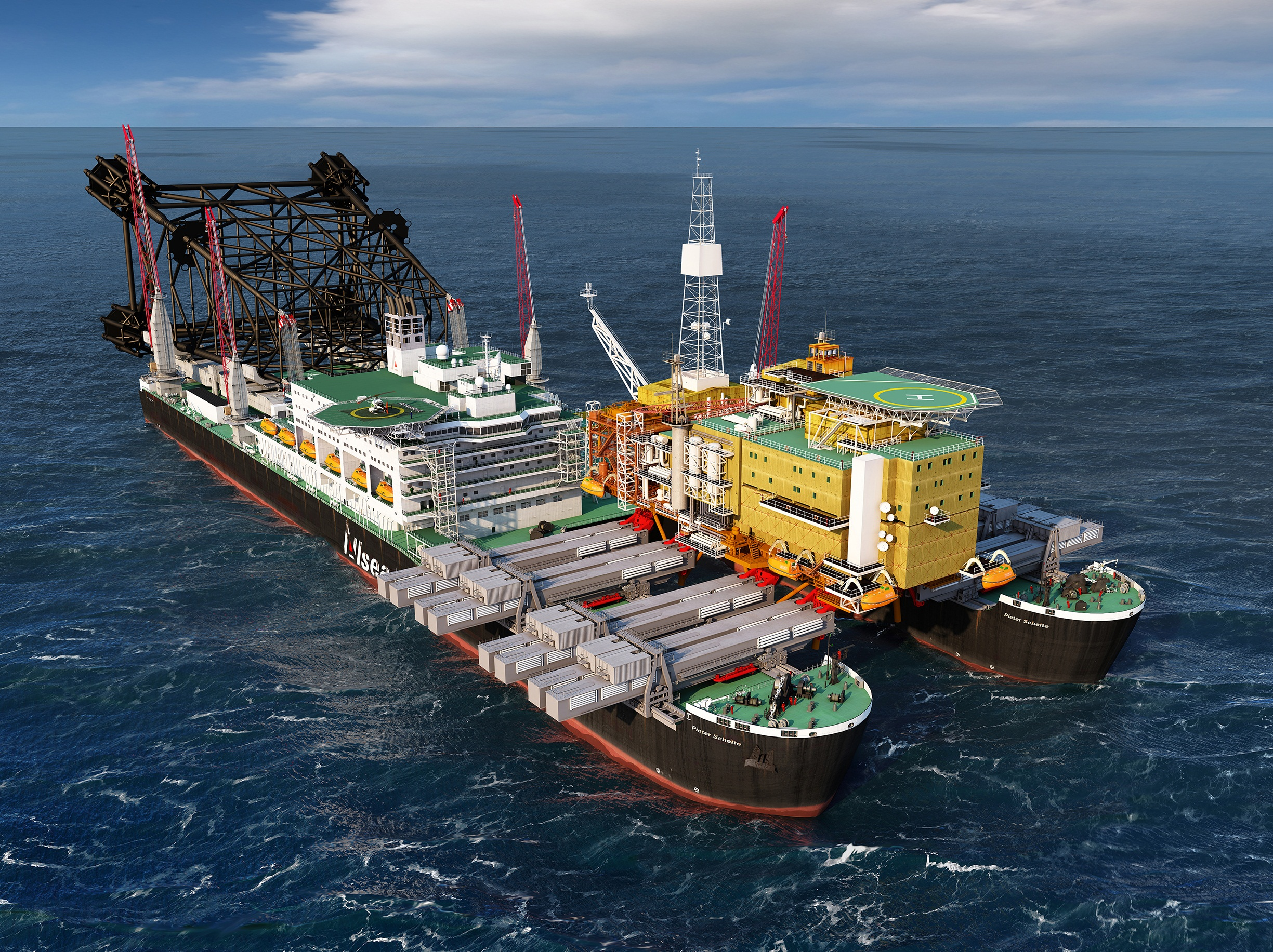 Pioneering Spirit - D.P. Platform Installation/Removal and Pipelay Vessel