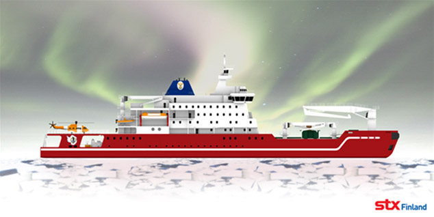 S.A. Agulhas II - polar supply research vessel with ice class
