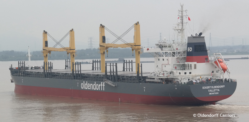 Eckert Oldendorff based on Deltamarin's B.Delta37 bulk carrier design