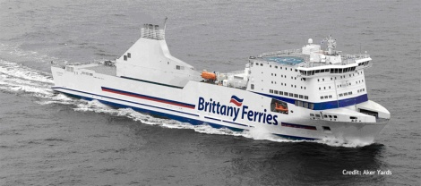 Cotentin - car passenger ferry of Brittany Ferries