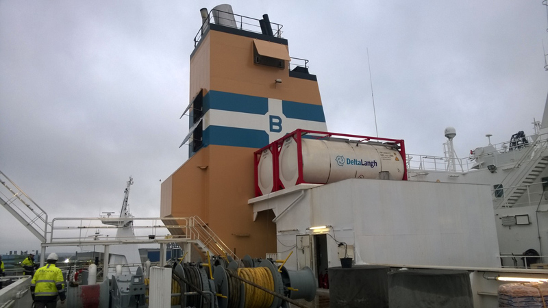 Deltamarin Floating Construction delivers a real eco scrubber to M/V