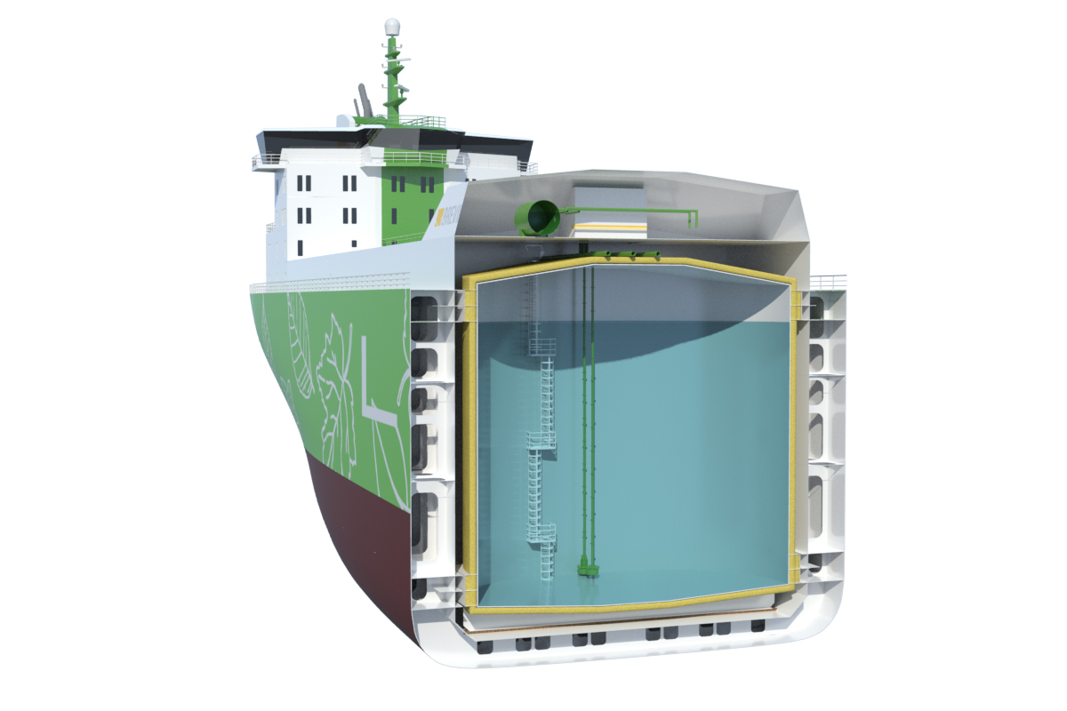 Multigas carrier design