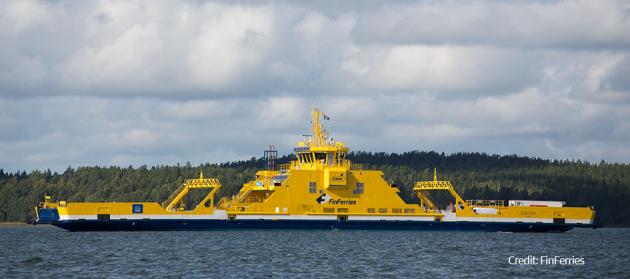 Elektra hybrid road ferry - Finferries