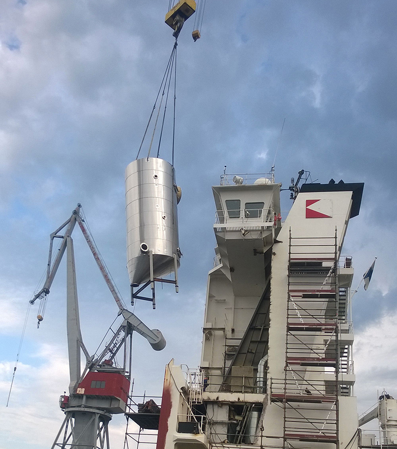 Deltamarin Floating Construction's scrubber turnkey delivery