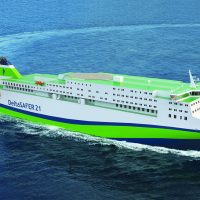 DeltaSAFER - ro-pax ferry for the Asian markets (copyright Deltamarin)