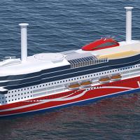 Viking Line ro-pax vessel at Xiamen shipyard - Deltamarin