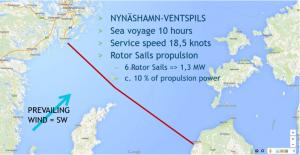 Nynäshamn - Ventspils route