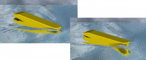 RANS CFD simulation of hull in waves
