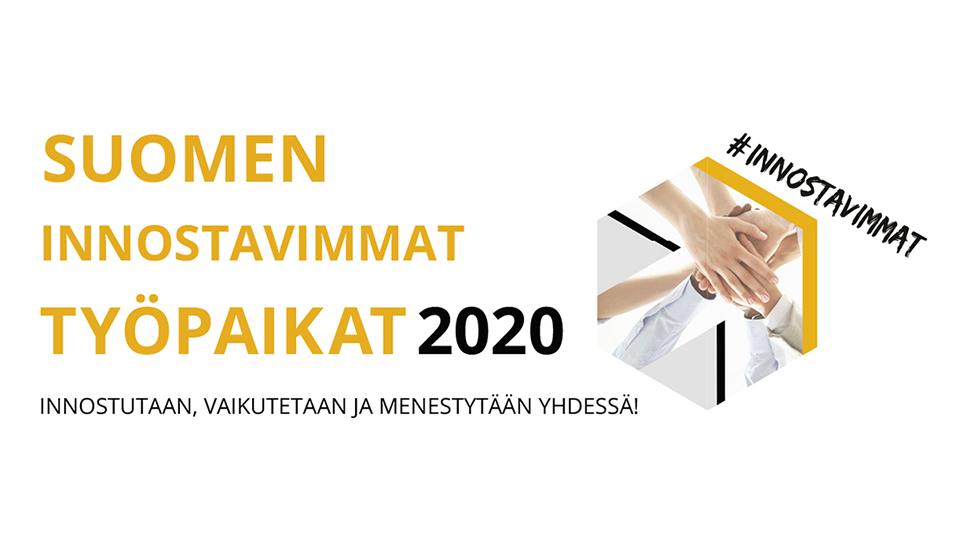 Inspiring workplace logo in Finnish
